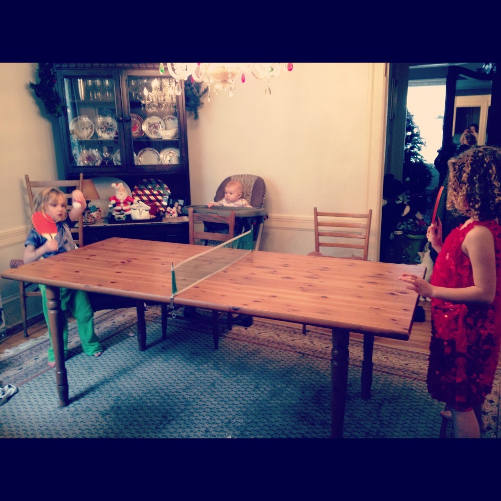 Week 2 started strong with a fierce ping pong match. Phoebe won.