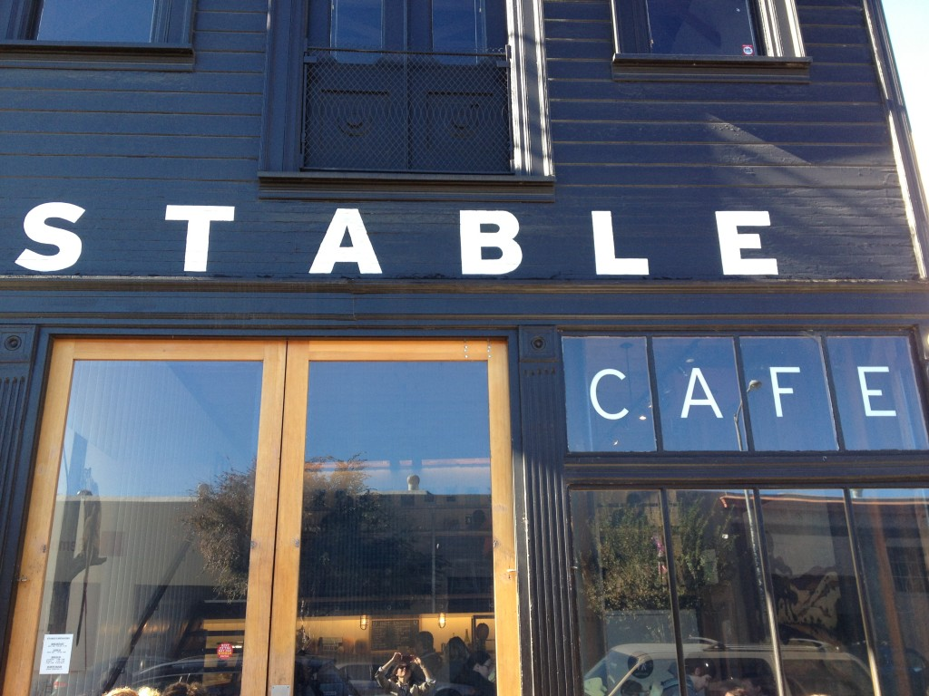 Stable Cafe- This building has been around since the 1800s and it is a multi-use building housing an architectural firm, the cafe, pop up bakeries, and even a bike messenger service!